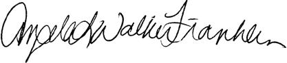 Angela Walker Franklin Signature