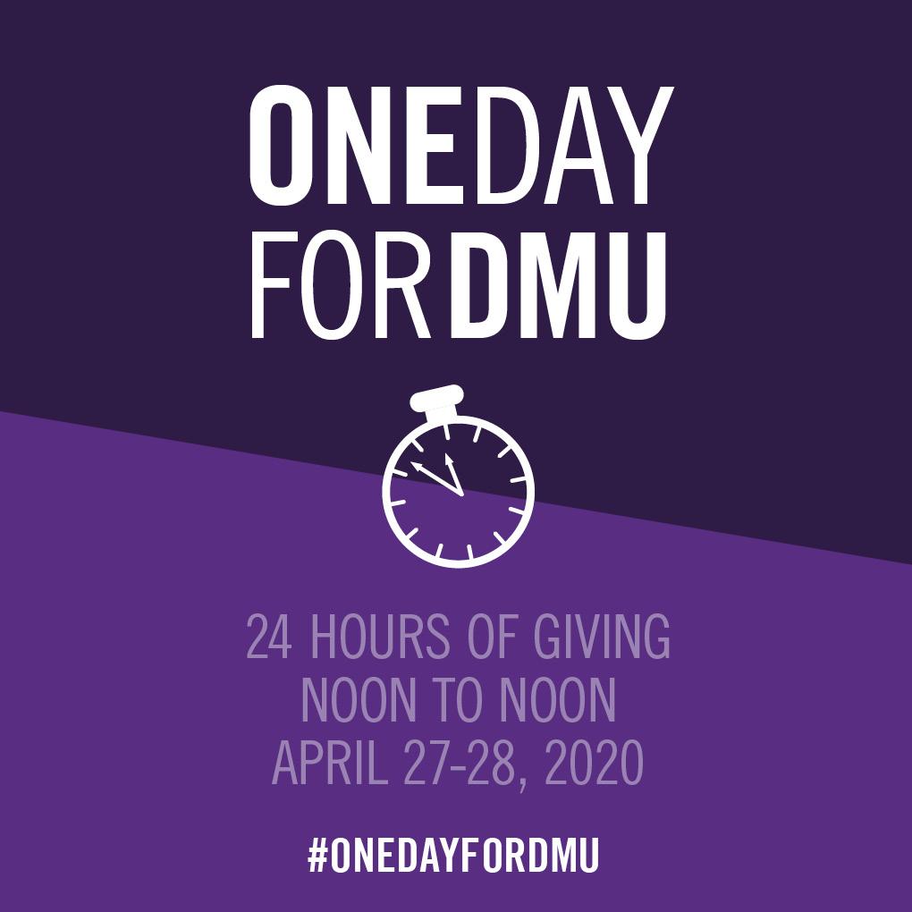One Day for DMU social media sharable