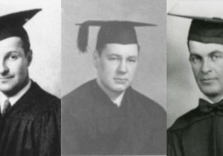 From left: Arthur Abramson, D.O.'43, George Boston, D.O.'38, Donald McDonough, D.O.'33